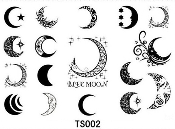 32 moon tattoo designs for Moon and star tattoo designs