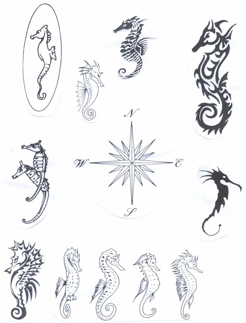 30 Unique Seahorse Tattoos