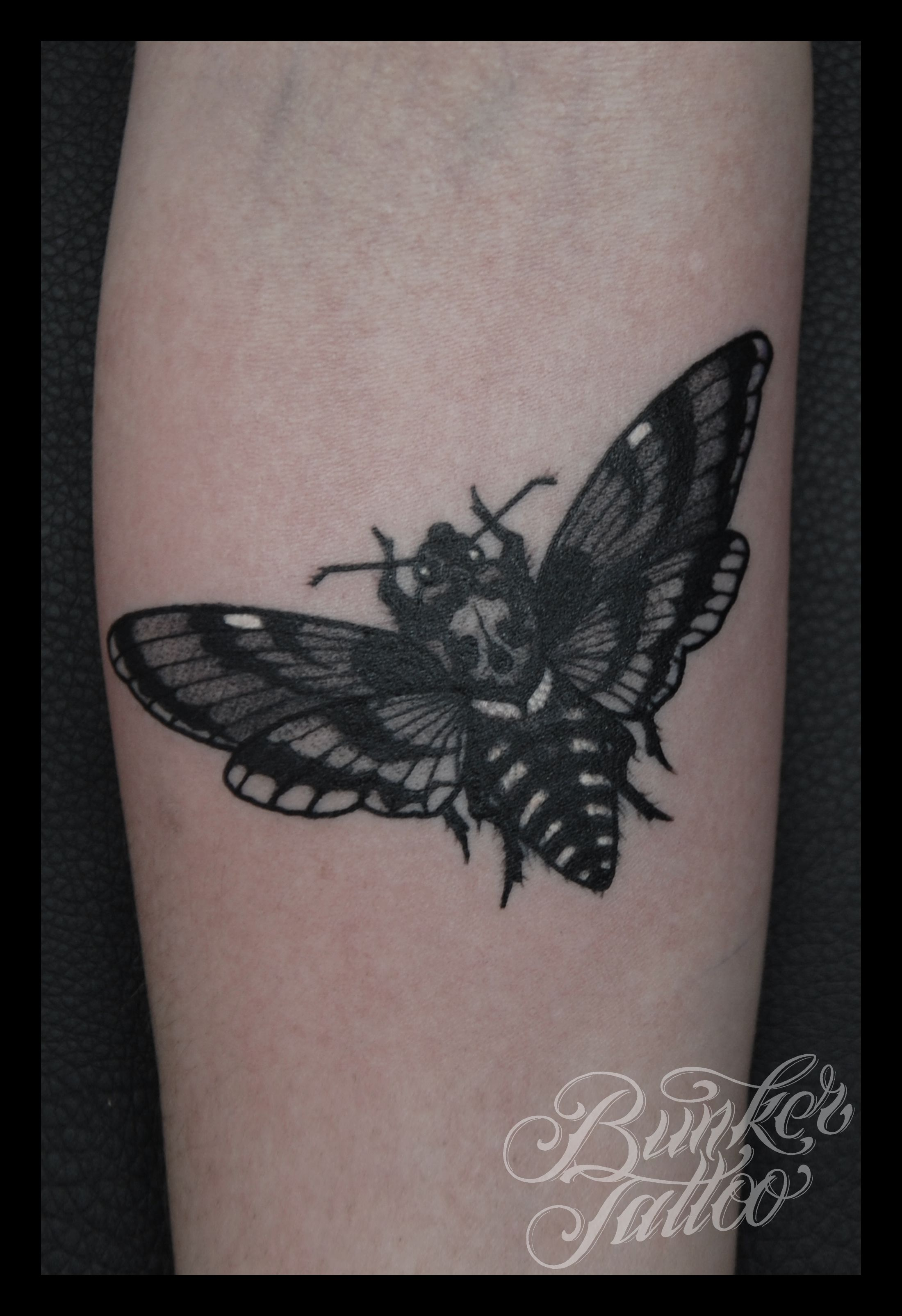 65 beautiful moth tattoos for Black and grey tattoo designs