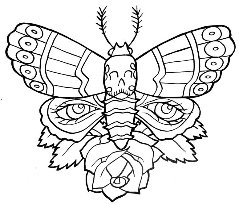35+ Famous Moth Tattoos Designs