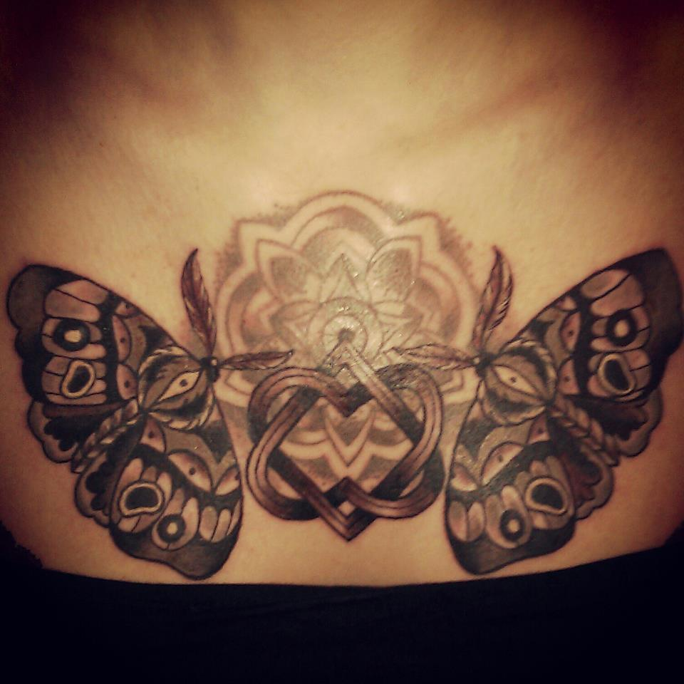 30 moth chest tattoos for Chest tattoos for women designs