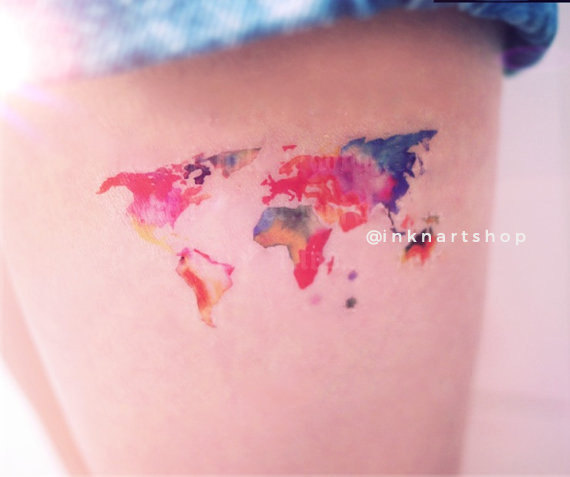 World map tattoo side world map tattoo side 80 fantastic map tatt gumiabroncs Gallery