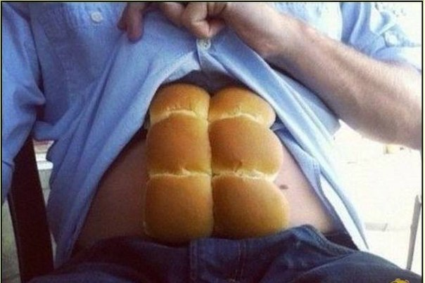 Funny Bread Six Packs Muscle Picture