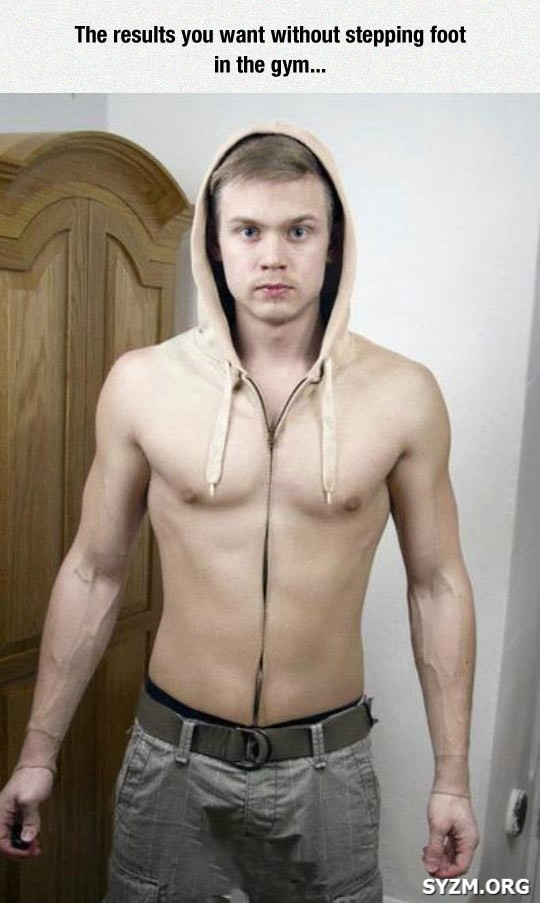 Funny Hoodie Body Six Pack Boy Picture