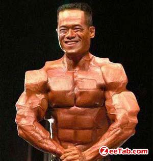 Funny Man Weird Muscle
