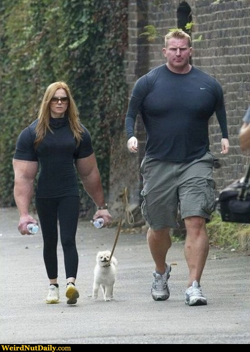 Funny Muscle Swap Couple Photoshop Picture