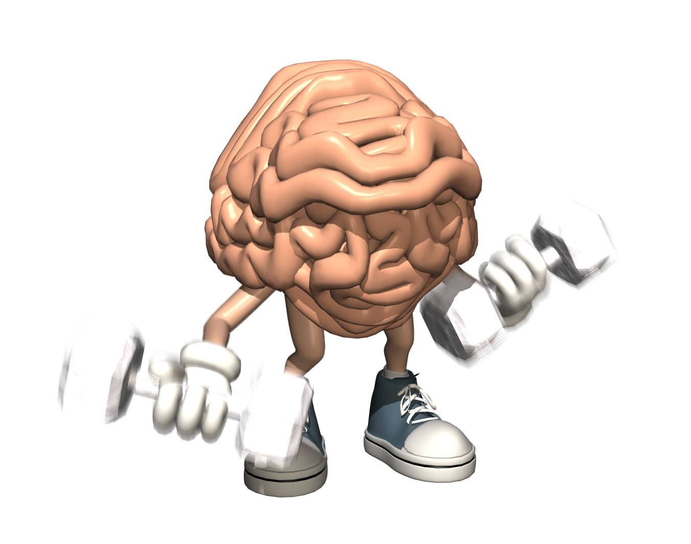 Funny Muscular Brain Weightlifting Picture