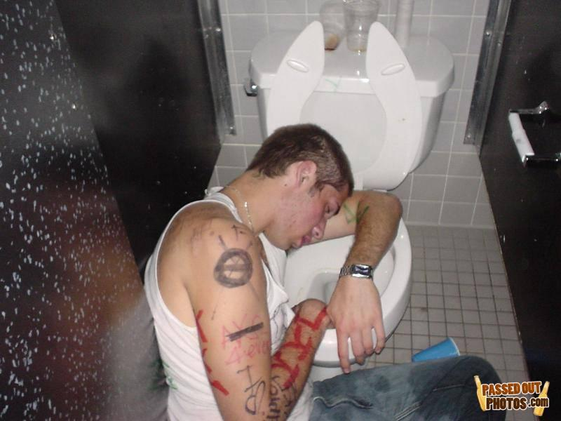 Drunk passed out boys