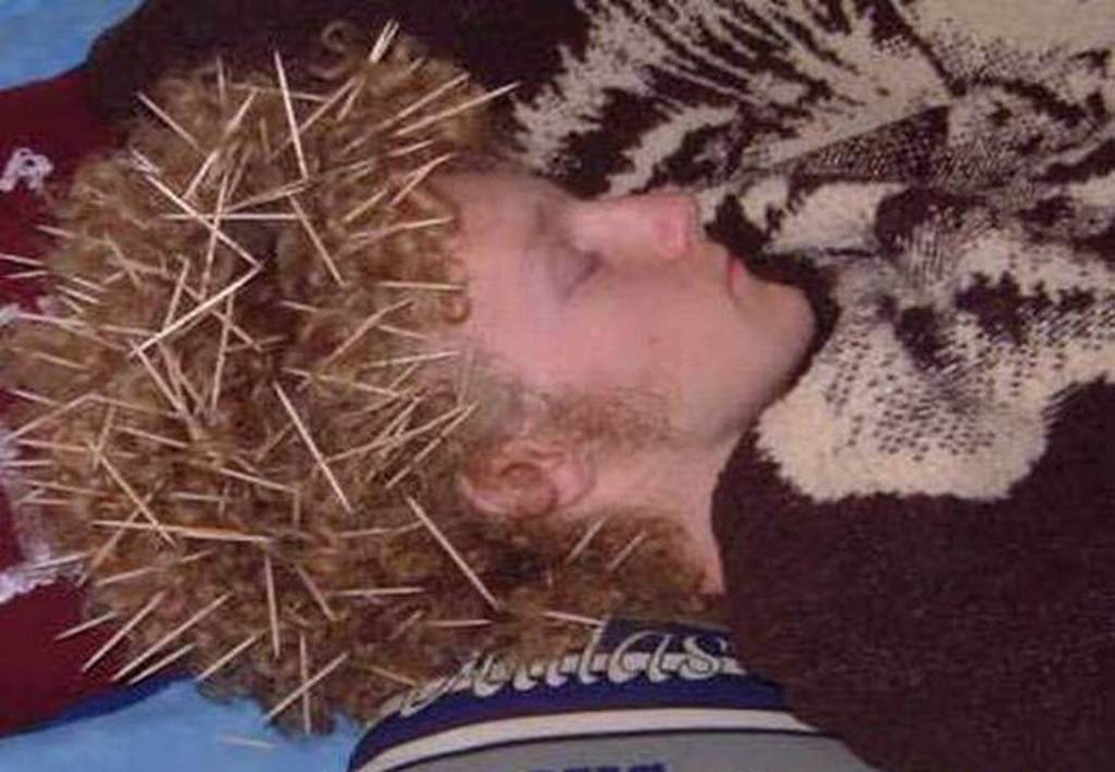 Funny passed out pictures