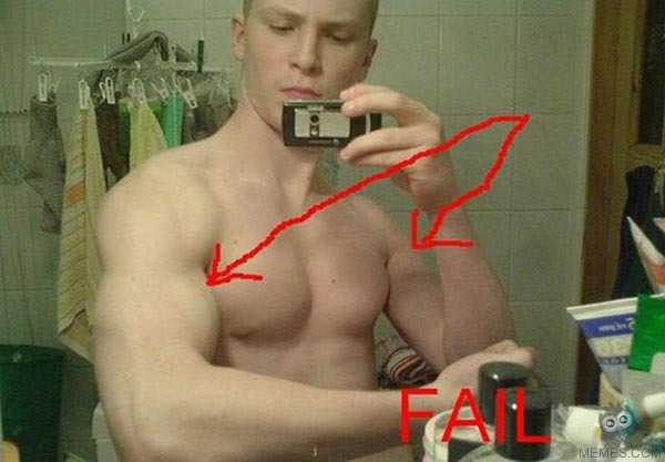 Funny Photoshop Muscle Fail Picture