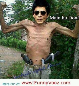 Funny Shahrukh Khan Photoshopped Muscle Picture