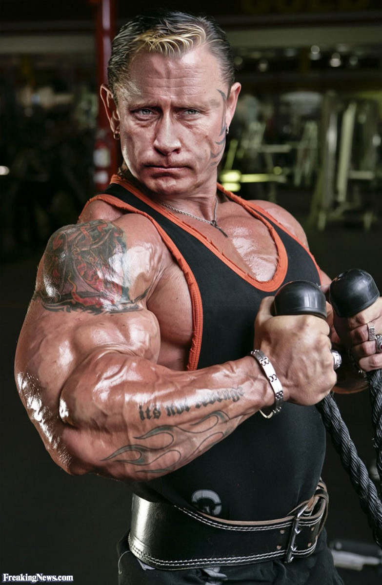 Funny Vladimir Putin Flexing His Muscles Photoshopped Picture