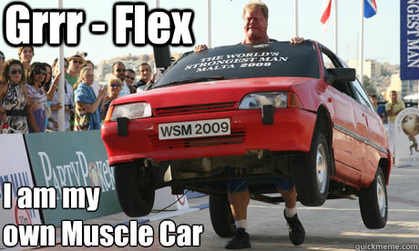 I Am My Own Muscle Car Funny Meme Picture