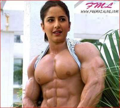 Katrina Kaif Funny Body Building Muscle Photoshopped Picture
