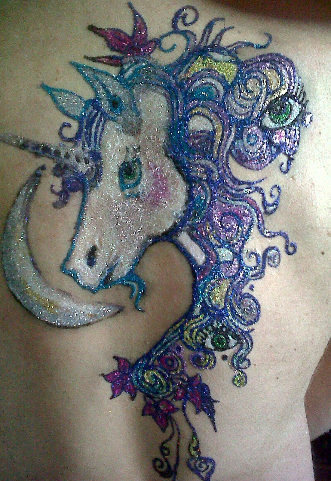 90 cool glitter tattoos for Glitter tattoo glue