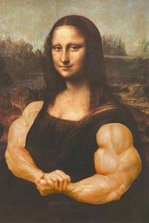 Mona Lisa Funny Muscle Photoshopped Painting