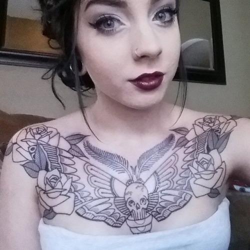 30+ Moth Chest Tattoos