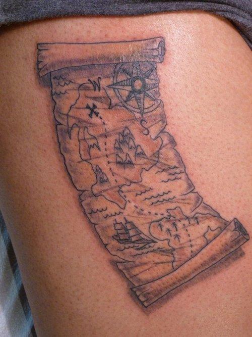 80 fantastic map tattoos. Black Bedroom Furniture Sets. Home Design Ideas