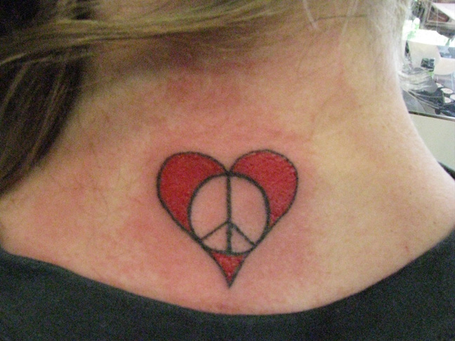 70 cute peace tattoos. Black Bedroom Furniture Sets. Home Design Ideas