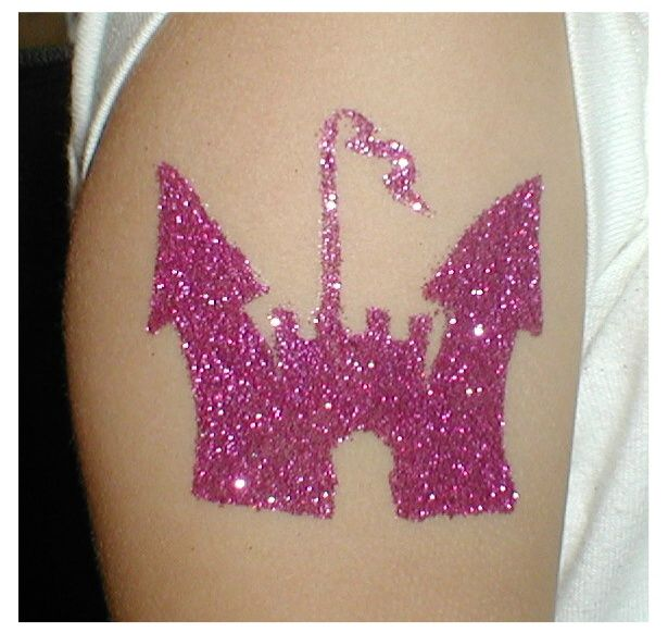 90 cool glitter tattoos for Pink ink tattoo