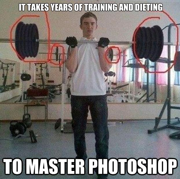 To Master Photoshop Funny Muscle Meme