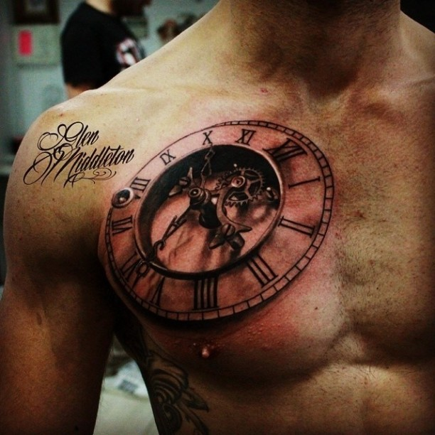 10+ Cool 3D Chest Tattoos For Men