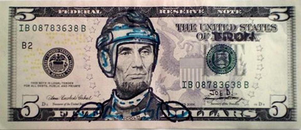Benjamin Franklin Funny Face On One Hundred Dollars
