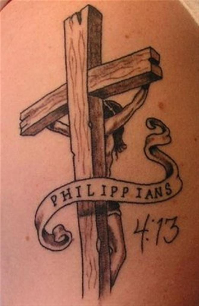 105 Beautiful 3d Cross Tattoo