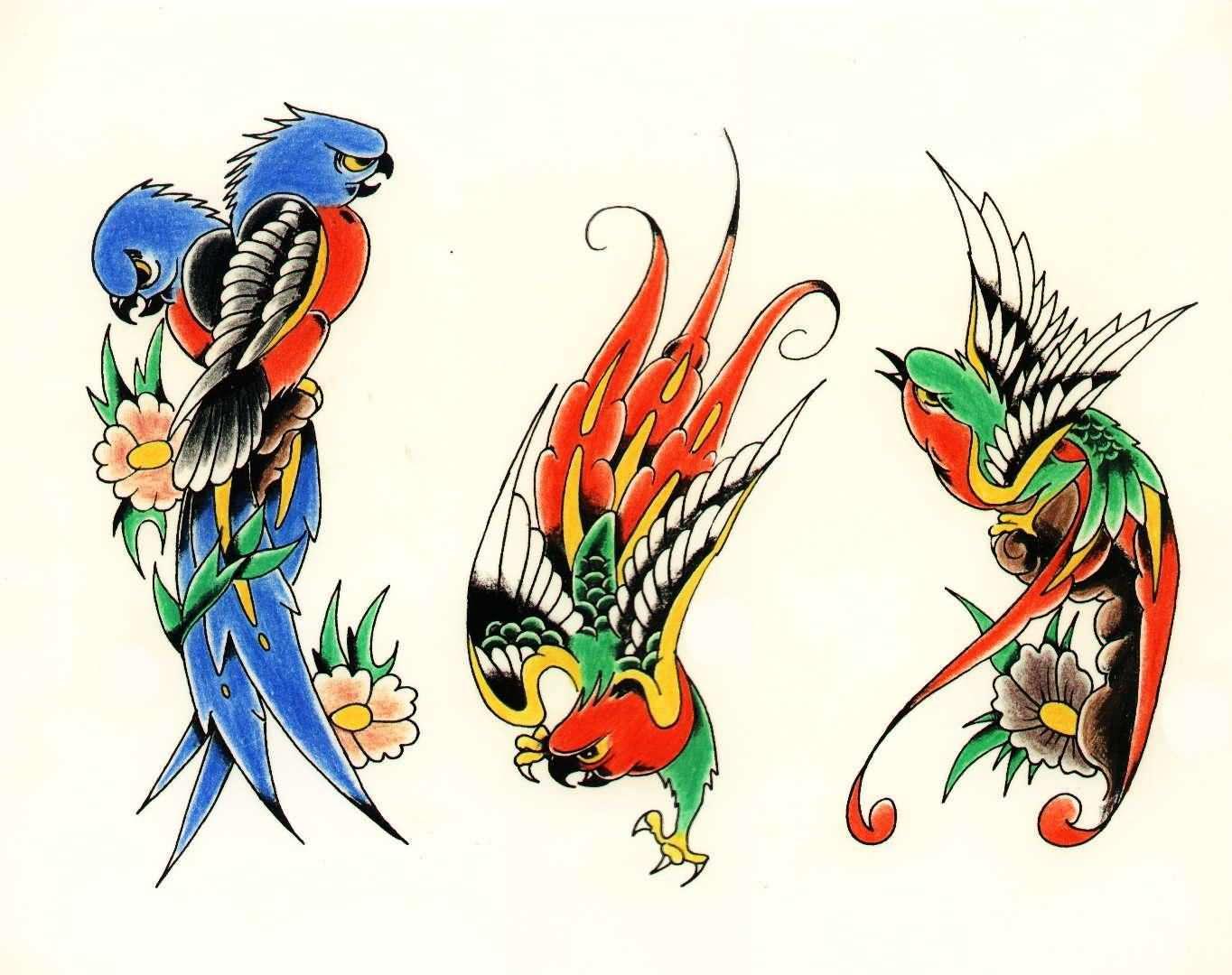 25 cute parrot tattoo designs. Black Bedroom Furniture Sets. Home Design Ideas