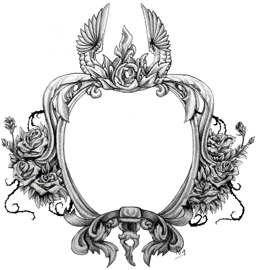 35 awesome frame tattoo designs for Frame designs
