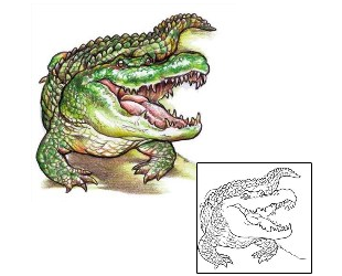 35+ Awesome Alligator Tattoo Designs Crocodile Tattoo Tribal