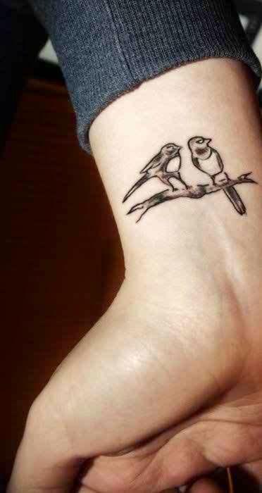49 bird tattoos on wrist rh askideas com 3 birds on branch tattoo bird sitting on branch tattoo