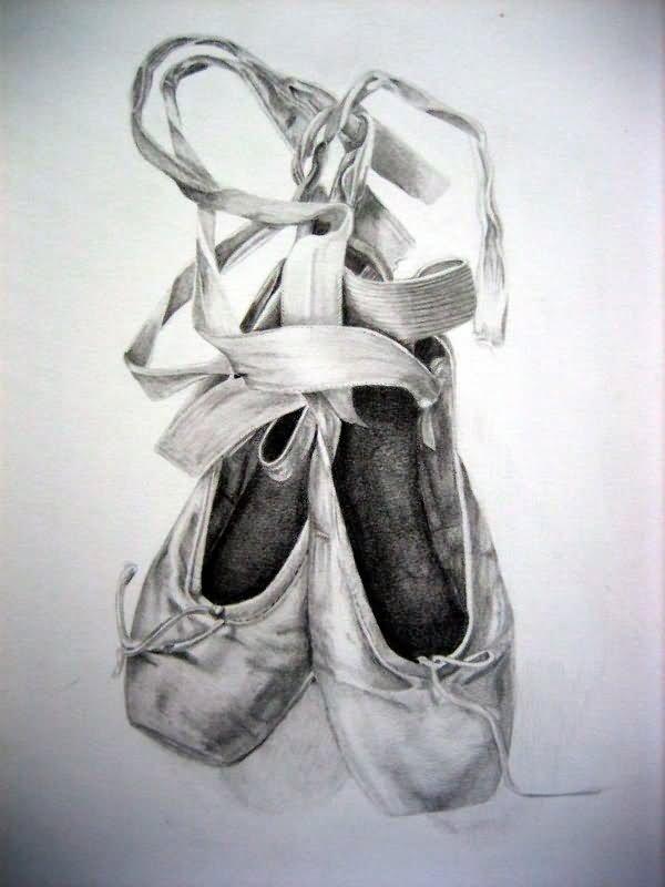 Ballet Slipper Tattoo Designs