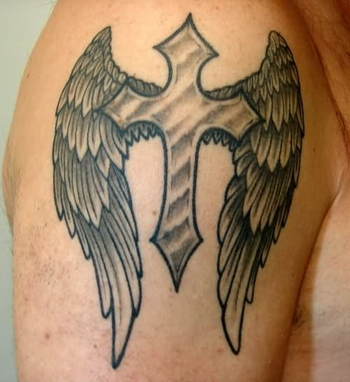 105 beautiful 3d cross tattoo for Tattoo cross with wings