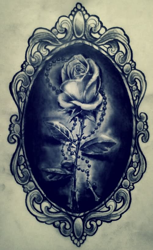 Attractive Black Ink Frame Tattoo Design By AimStar
