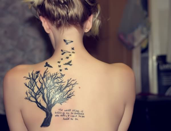 65 cute birds tattoos ideas for Tree shoulder tattoo