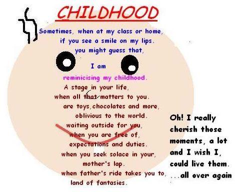 Childhood Funny Poem For Kids