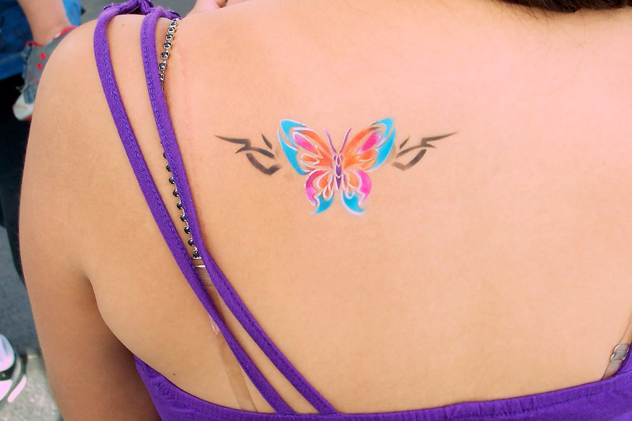 Tattoo Designs For Girls On Back Shoulder Butterfly