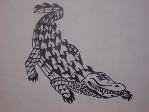 38aab9d49 35+ Awesome Alligator Tattoo Designs