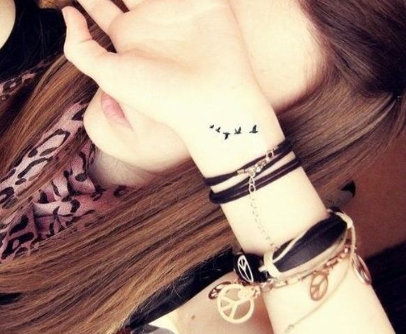 49 bird tattoos on wrist for Tiny bird tattoo