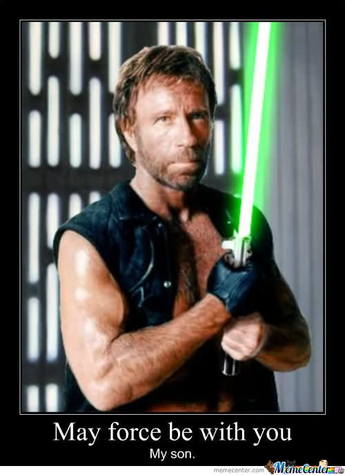 Funny-Chuck-Norris-With-Lightsaber - The Lightsaber - Photos Unlimited