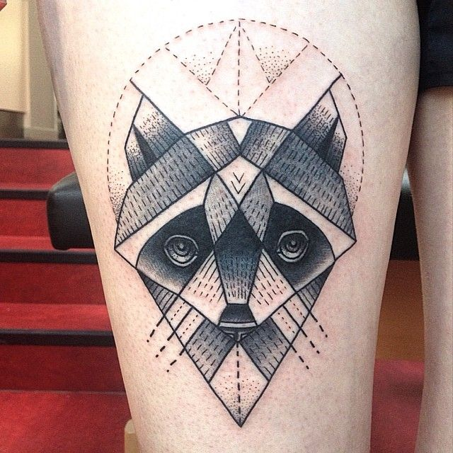 Ink Ideas Graphic Design: 45+ Best Raccoon Tattoos