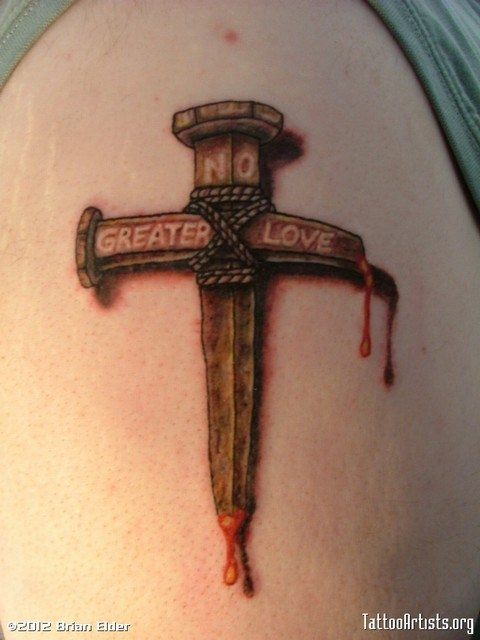 Nail Cross Tattoo: 105+ Beautiful 3D Cross Tattoo