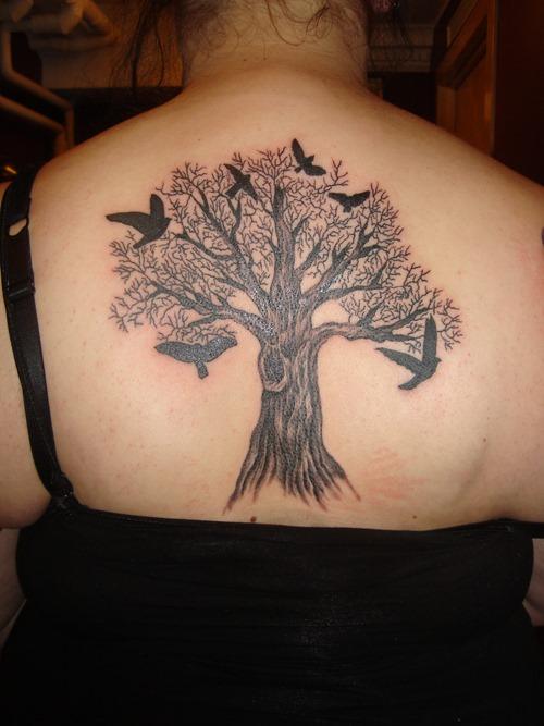 65 cute birds tattoos ideas for Tree back tattoo