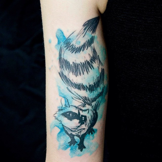 Raccoon tattoo