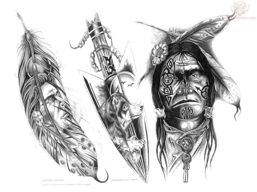 20 best american tattoo designs for Native design
