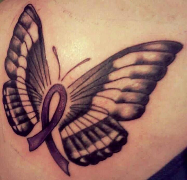 6d7c679b2 Butterfly Cancer Ribbon Tattoo