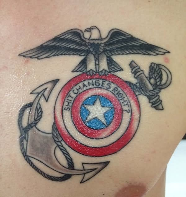 100 incredible american tattoos for American anchor tattoo