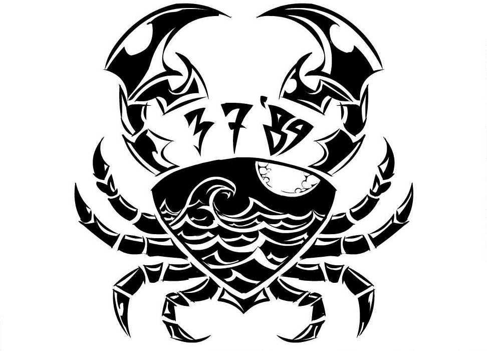 ecdfc1d18 Crab Cancer Zodiac Tattoo Design