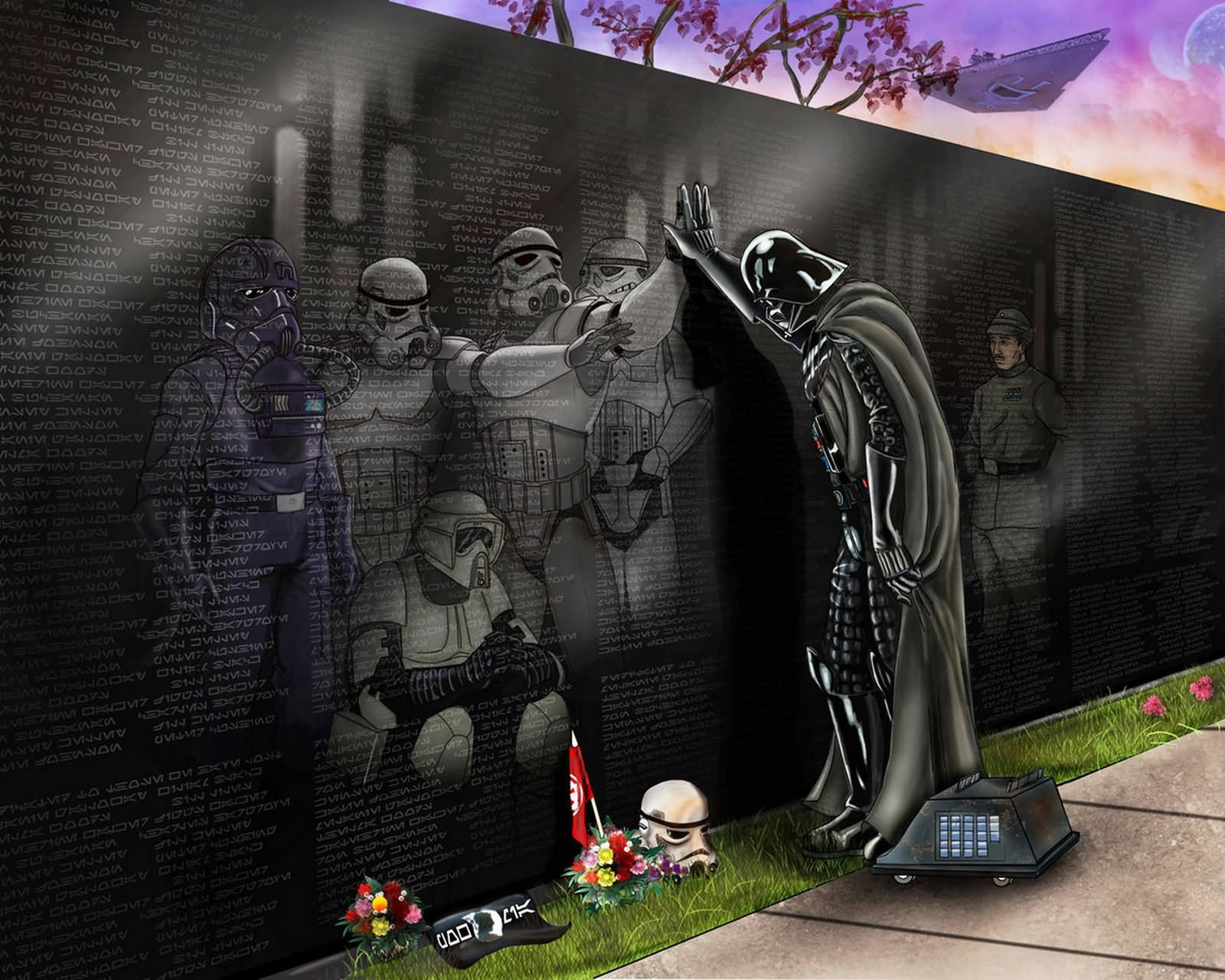 Darth Vader Funny Memorial Wall Star Wars Image